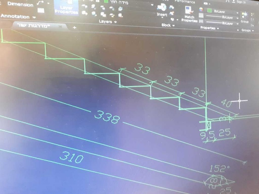 מדרגות בתכנון